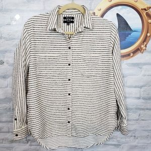 Madewell striped button up top or jacket